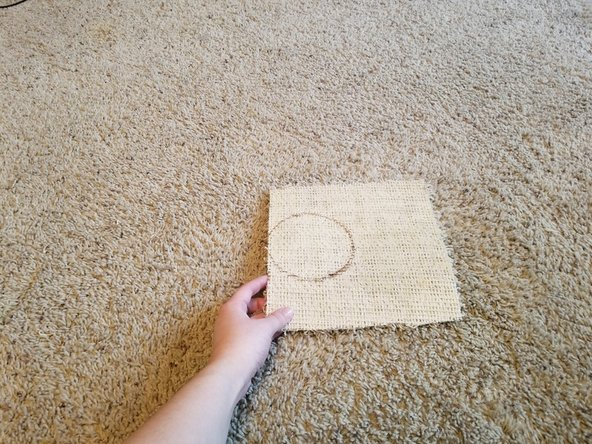 Remove the can from the sample carpet.