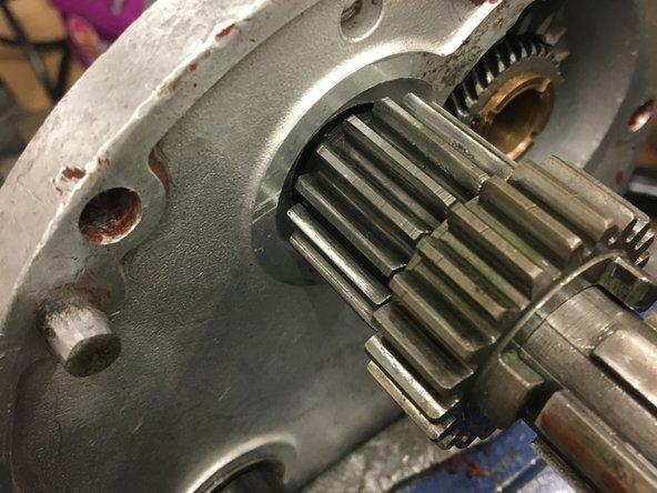 Fit a new mainshaft bearing.