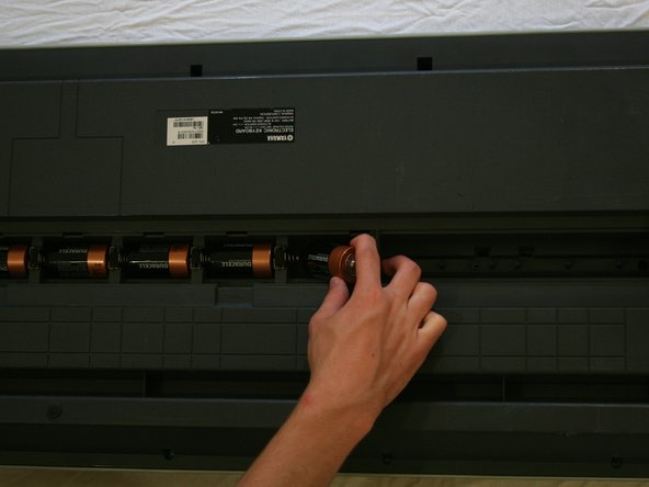 Locate the six batteries and remove them from the battery cavity.
