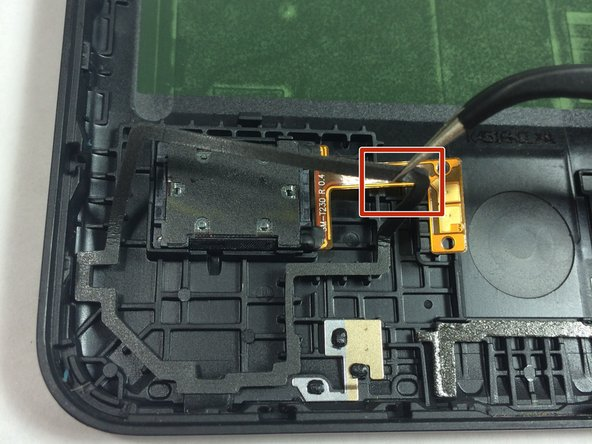 In order the speaker connection, you must first peel back part of the surrounding water gasket.