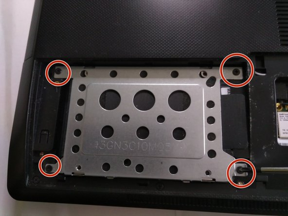 remove the 4 screws holding the metal frame , holding the hdd to it's place.