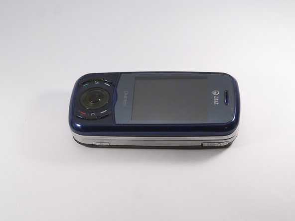 Place phone with screen side facing toward you.