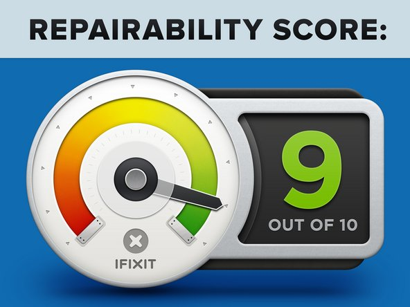 The HP EliteBook 1050 earns a 9 out of 10 on our repairability scale (10 is the easiest to repair):