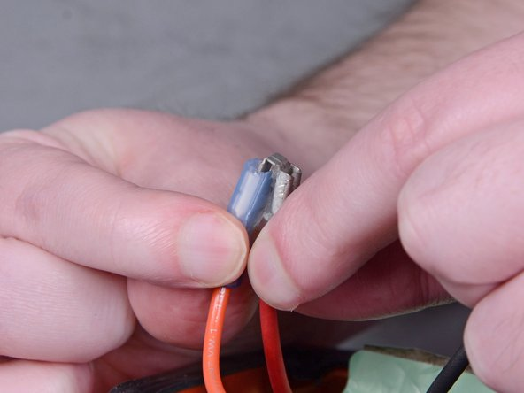 Be very careful with this connection, as even minimal bending can break the metal conductor in half.