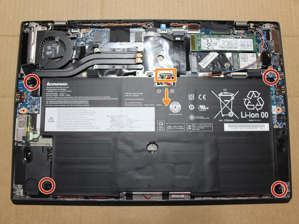 Only use plastic to remove battery connector