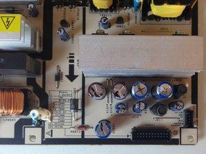 Repairing Samsung LA40R81BD 40in LCD TV Power Supply (clicking Relay Symptom)