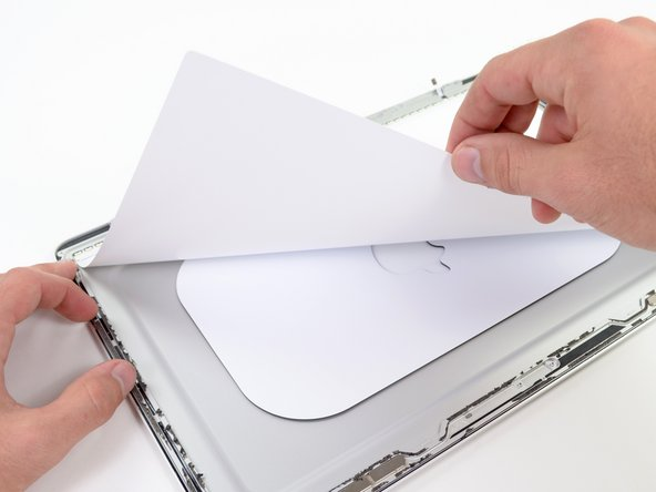 The plain-looking sheet of white paper serves as a uniform white background for the LCD's backlight.
