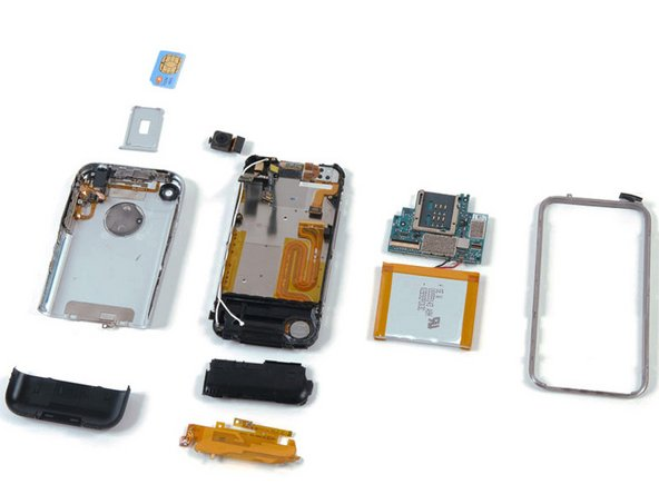 The iPhone is completely apart!