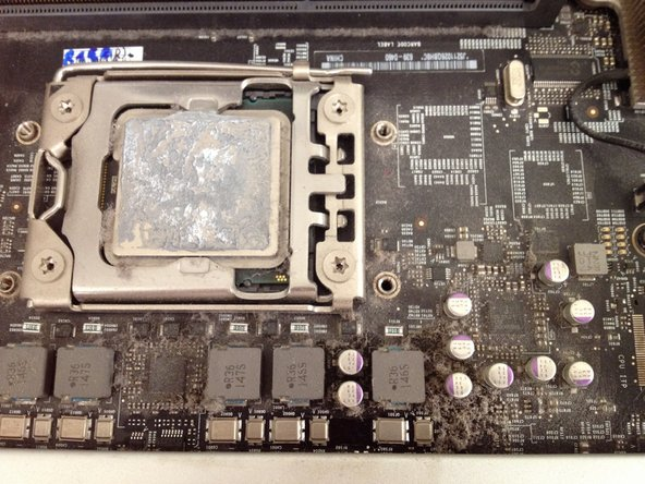 The CPU PCB is filthy. It is covered in dust and grime.
