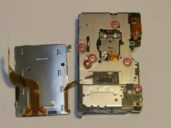 There are six 3mm screws located on the interior frame.