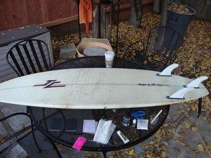 Patching Surfboard Fiberglass