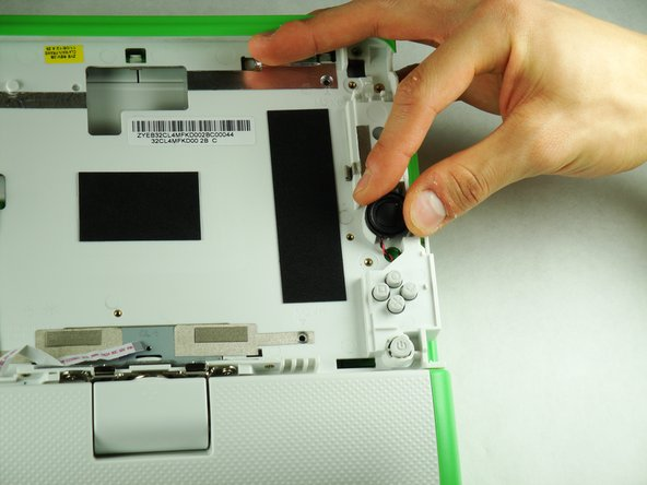 Flip the top half of the laptop around so you are now looking at the front.