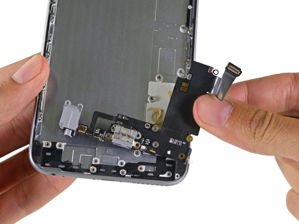 Alas, the last piece of the teardown puzzle—the Lightning connector assembly.