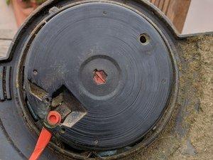 Orange blade support plate