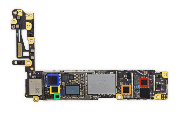 More ICs await us on the back of the logic board: