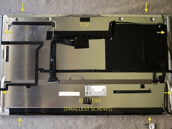 Face the LCD down (be sure to have nothing between the screen and the table) ;