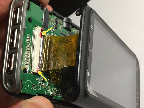 Look there!  Did someone bleed on that FPC connector for the LCD or is that adhesive?