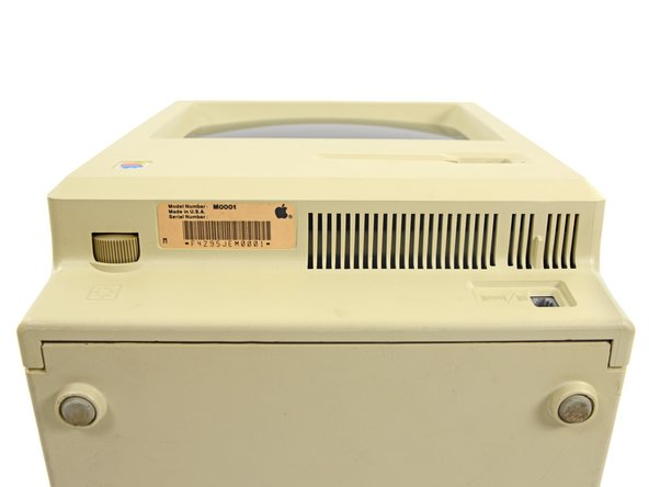 Now that's a model number: Macintosh Model M0001. (Apple built in just a teensy bit of headroom for future models.)