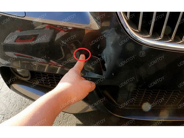 Remove tow hole cover