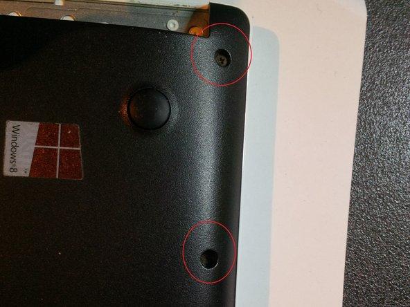 remove the last screws