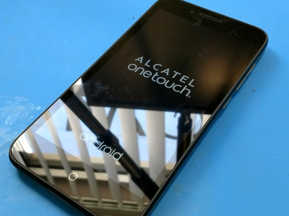 The Alcatel Go Play 7048W running Android 5.0.2. It advertises water resistance, and expandable memory! The processor is a Snapdragon 410 with 4 cores running at 1.2GHz. The display is 5 inches with a resolution of 720 x 1280.  8 GB internal storage, and 1 GB of RAM.