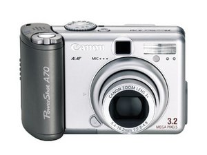 Reparo de Canon PowerShot A70