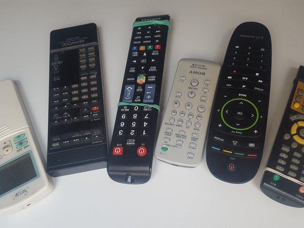Limpieza de mandos a distancia por infrarrojos