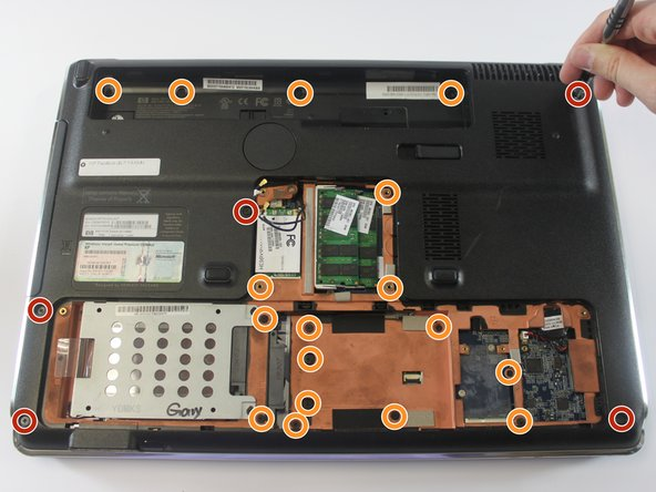 Remove the five  Phillips PM2.5×7.0 screws with a Phillips #00 screwdriver.