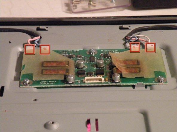 Removing the backlight inverter: