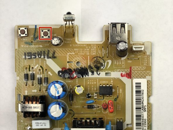 Locate the Open Button  on the circuit board.