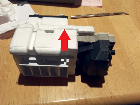 """The diffuser assembly is a """"nonserviceable"""" part. Unless you're stubborn like me. Gently cut open the foam along the glue line all the way around with a box cutter or sharp knife. Now remove the top half of the foam."""