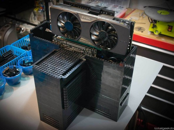 Hover the new GPU over the PCI-e slot.