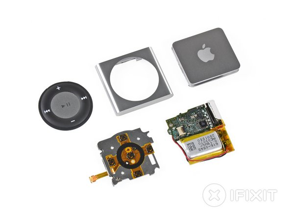 iPod Shuffle 4th Generation Repairability: 2 out of 10 (10 is easiest to repair)