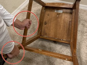 Fixing  a chair that squeaks