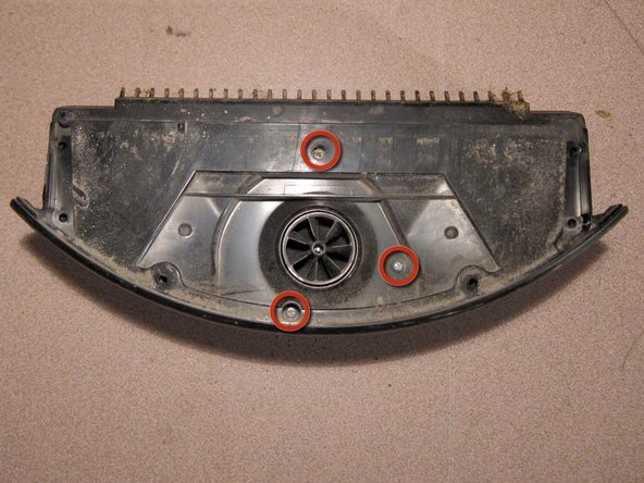 Remove three screws from the remaining dust-bin assembly.