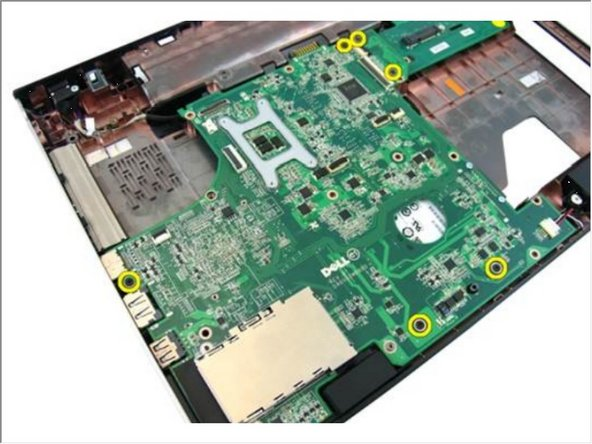 Remove the screws that secures the system board.