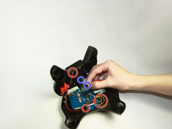 Check all wires for disconnections. They are color coated red, black, orange, and yellow. If wires are disconnected they can easily be reinserted as shown in photos.
