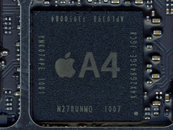 Apple's A4 microprocessor is the brain of the iPad.