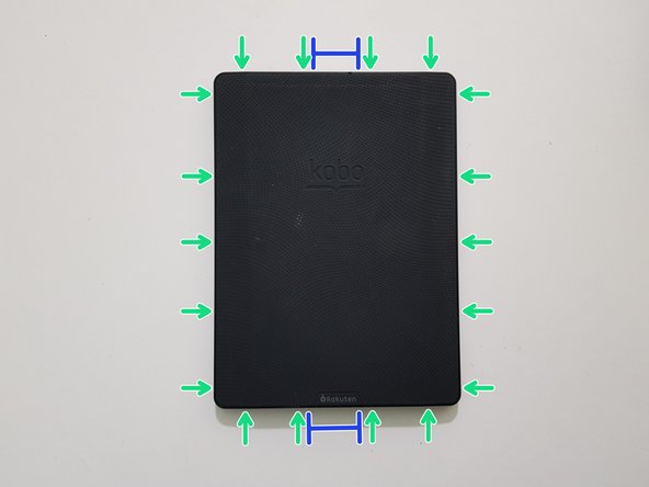 If you haven't done so already, power off your eReader by holding down the power button for 3 seconds until the display refreshes to indicate that it has powered off.