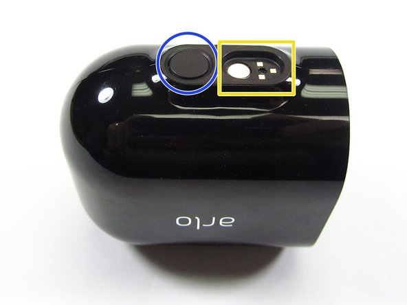 To open the Arlo Pro 3 Camera, press the Button on the bottom, and pull the Camera Face (Camera Body) away from the Camera Enclosure