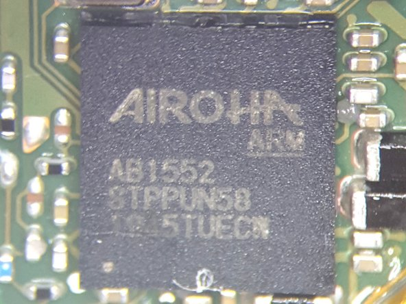 Closeup view of some of the components on the Battery side of the Main PCB