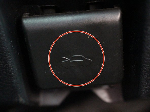 Identify where the level is to pop the car hod.