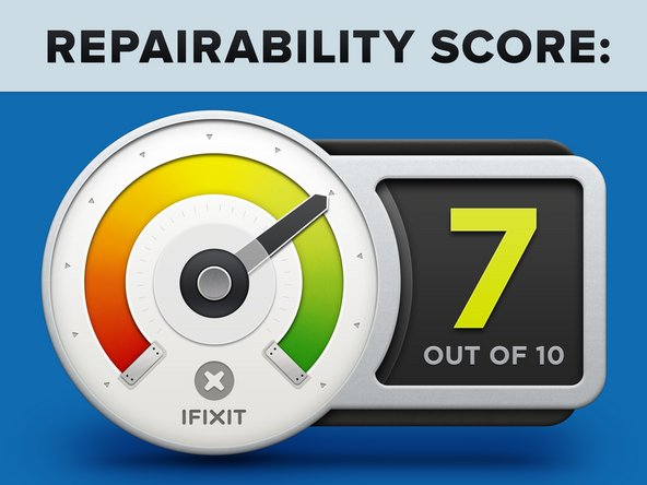 The iPhone 7 Plus inherits a 7 out of 10 on our repairability scale (10 is the easiest to repair):