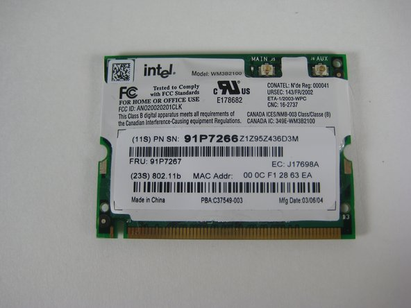 IBM ThinkPad T41 Wireless Network Card Replacement