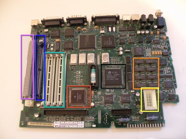 The Processor:  20Mhz Motorola 68030 model # MC68030RC20B