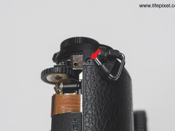 to remove the sensor more easily you can remove the top bar before