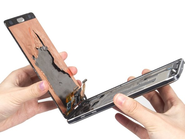 Separate the LCD screen from the frame of the device.