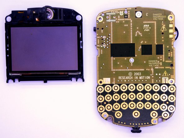 BlackBerry 7280 LCD Screen and Speaker Replacement