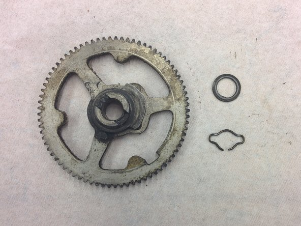 Gear, 77t, with one timing marker