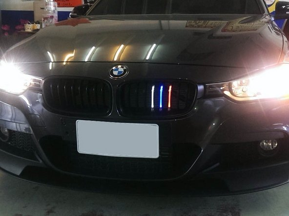 BMW M-Colored LED Front Kidney Grille Installation